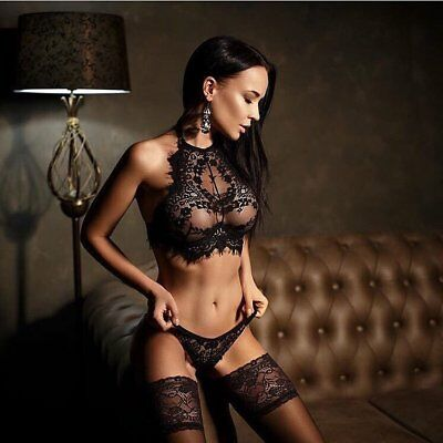 Sexy Lace Bra and Knicker Lingerie Set Underwear See Through various sizes #2871