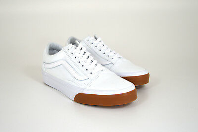 VANS OLD SKOOL Gum Bumper, True White, Weiß, Canvas, Stoff