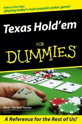 Texas Hold'em for Dummies by Mark Harlan 9780470046043 (Paperback, 2006)