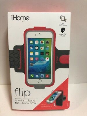 iHome Flip Sport Armband For Iphone 6/6s, Red