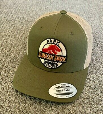 Jurassic Park Hat Park Ranger SnapBack Trucker Mesh Cap Handcrafted in the USA!