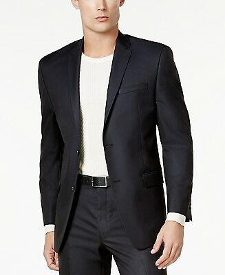 $303 ANDREW MARC NEW YORK mens BLACK FIT SUIT BLAZER JACKET SPORT COAT 42 L