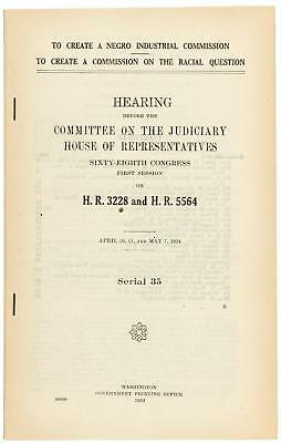 "1924 Proposed ""Negro Industrial Commission"" and ""Commission on Racial Question"""