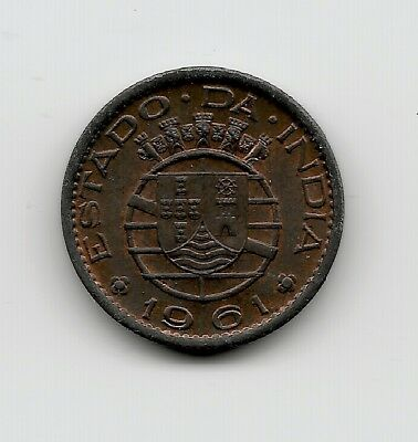 World Coins - India Portuguese 10 Centavos 1961 Coin KM# 30 ; Lot-I2