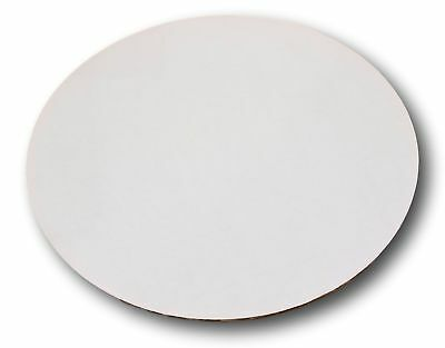 """8"""" Corrugated Sturdy White Cake / Pizza Circle by MT Products (15 Pieces)"""