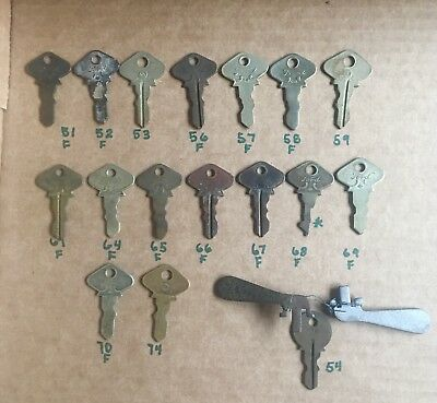 16 Ford Model T Keys Logo On 13 All Different Numbers  Plus Ignition Keys