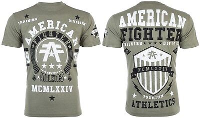 AMERICAN FIGHTER Mens T-Shirt DALTON Athletic MILITARY GREEN Biker Gym UFC $40