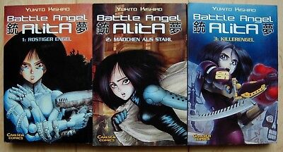 Battle Angel Alita.1-3 Rostiger Engel/Mädchen aus dem All/Killerengel v. Y.Kishi