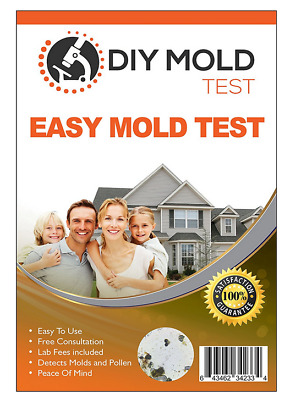 DIY Easy Mold Test w/3 Tests Includes Lab Analysis & Expert Consult Exp 2/19