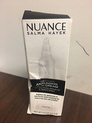 0.5oz Nuance Salma Hayek Smoothing Anti-Aging Eye Cream shea butter avocado oil