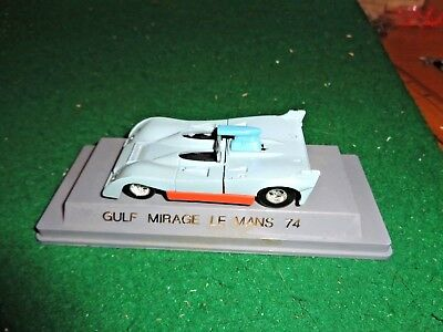 Vintage Solido Gulf Mirage Le Mans 74 made in France in  1/43 Scale
