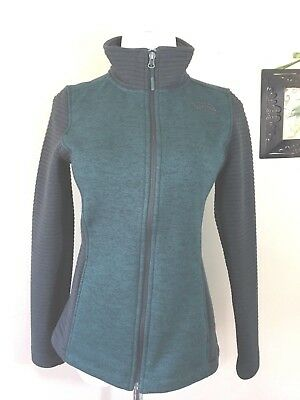 The North Face Indi Womens Sweater Fleece Jacket Heather Green