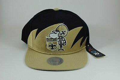 official photos 7686d 987be ... netherlands throwback new orleans saints mitchell ness shark tooth snapback  hat cap nfl 3c3ee c2675