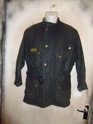 Rare Vintage Barbour A7 International Waxed Jacket Size C40 102Cm
