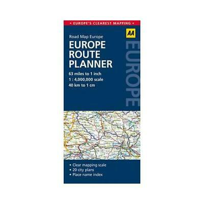 Road Map Europe Route Planner by AA Publishing