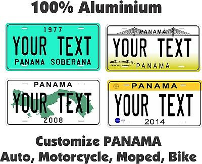 Panama Custom Personalized Car Motorcycle Moped Bike Bicycle License Plate Tag