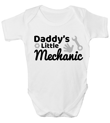 Daddy's Little Mechanic Funny Baby Grow Body Suit Vest