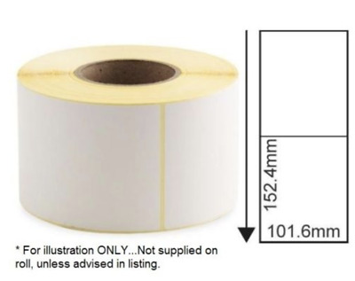 LARGE WHITE Self Adhesive / Sticky Labels 101mmx152mm 4 X 6 inches 1ST CLASS P&P
