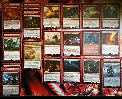 mtg lot- red rares- various sets - some multiples.