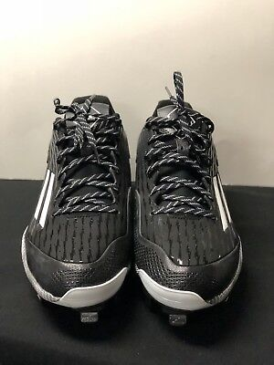 buy popular 5cf34 80e9d Adidas S84762 Mens PowerAlley 3 Metal Baseball Cleats Size US12 -Black