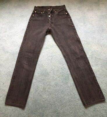 Levi's Women's Jeans Size 29X32 501 Vintage Button Fly Faded Black