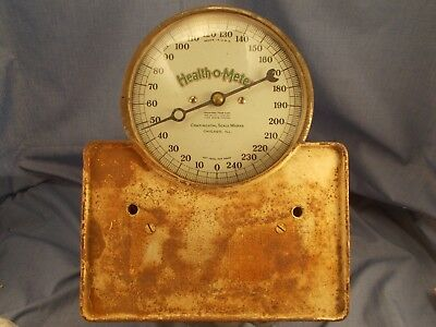 Scale Vintage Bathroom Health-O-Meter Cast Iron For Display