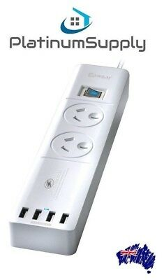 Sansai 2 Way Power board Surge Protector with USB Charger GPO 100% Authentic