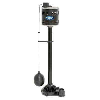 Pedestal Sump Pump 1/3 HP Clog Resistant 50 GPM Adjustable Automatic Switch