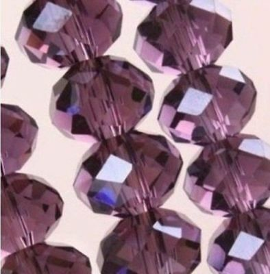 DIY Jewelry Faceted 70pcs 6*8mm purple Red Rondelle glass Crystal Beads