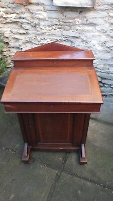 Antique Edwardian Inlaid Mahogany Davenport Desk - Bureau