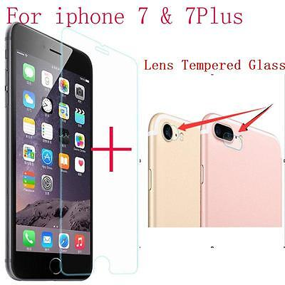 9H Tempered Glass Screen Protector + Lens Tempered Glass for iPhone 7 / 7 Plus
