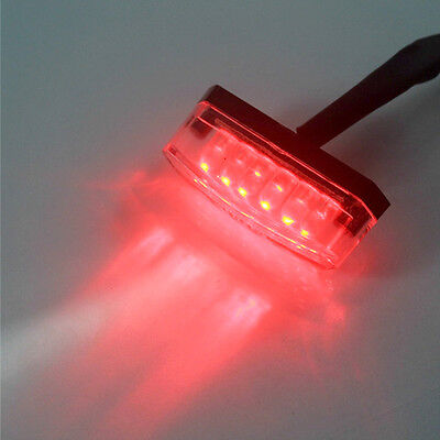 Durable Universal Motorcycle Bike RED LED Rear Marker Brake Tail Light GSE