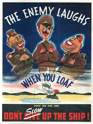 War Memes WW2 Propaganda Poster Enemy Germany Japan Turkey WWII Military Humor