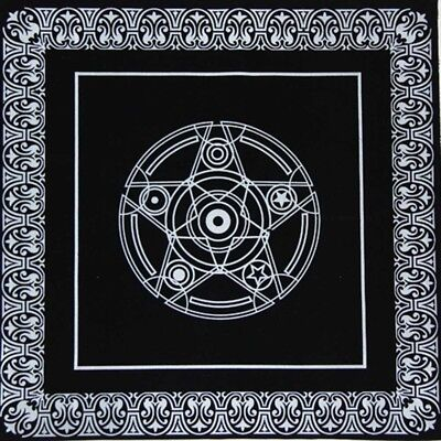 "19"" Pentacle Tarot Game Tablecloth Board Game Textiles Tarots Table Cover QQQ"