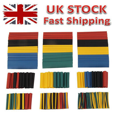 328pcs Car Assorted Electrical Cable Heat Shrink Tubing Wrap Sleeve UK Seller