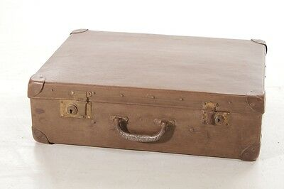Beautiful Age Vulcanised Fibre Suitcase Travel Cases The 60er Iconic Vintage