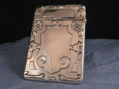 Lovely Antique Arts & Crafts Sterling Silver Business Calling Card Case Box