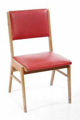 Beautiful Age Wood Chair, Red, 60ER 70er Iconic Vintage Design