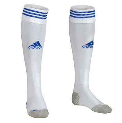 ADIDAS ADISOCK 12 FOOTBALL SOCKS WHITE/COBALT UK SIZES 2.5 to 8 BNWT
