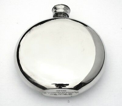 Sporran 6oz Pewter Round Hip Flask Gift FREE ENGRAVING