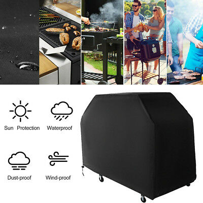 Grand Noir Duty Barbecue Housse Imperméable Barbecue Patio Grill Protecteur