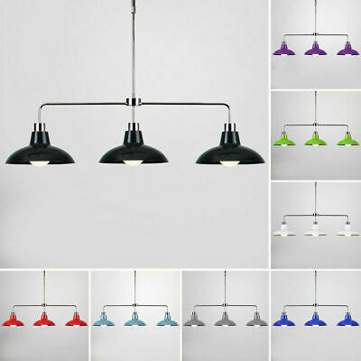 LED 3 Way Adjustable Chrome Ceiling Pendant Bar Light Fitting Lamps Over Table
