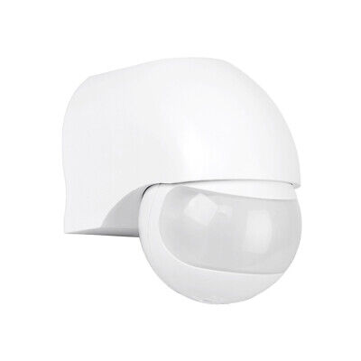 Stand Alone IP44 Outdoor 180 Degree PIR Motion Movement Sensor Detector - White