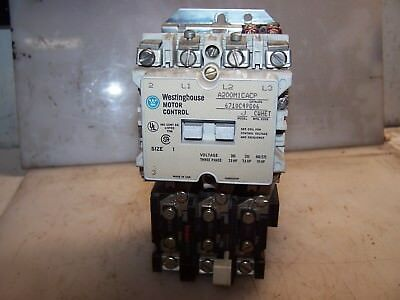 Westinghouse Size 1 Motor Starter Coil 120 Vac 10 Hp Max A200M1Cacp