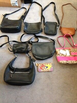 Coach Lot Of 8 Athentic Coach Bags including 1 NWT and 2 writstlets NWOT