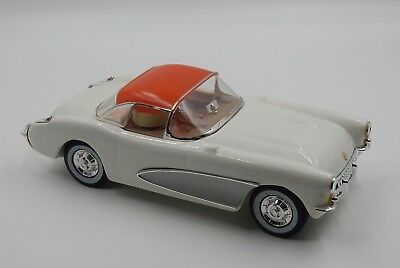 Jim Beam 1957 Chevrolet White Corvette Hard Top Decanter Car, Regal China, Empty