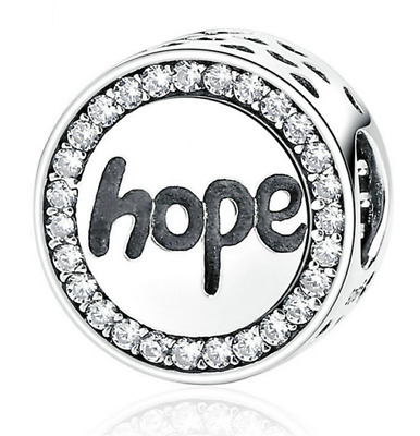 NEW Fashion Hope European CZ Charm Crystal Spacer Beads Fit Necklace Bracelet !!