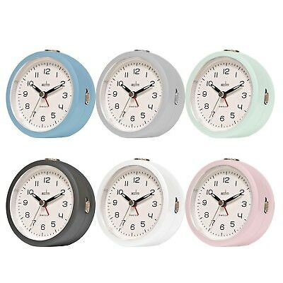 Acctim Orla Non Ticking Alarm Clock Sweep Second Hand with Snooze / Light