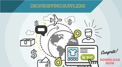 Drop-Shipping List Of 50 U.s Suppliers Products - Shopify- Ecommerce - Alibaba