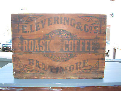Antique E. Levering & Co. Roast Coffee Crate